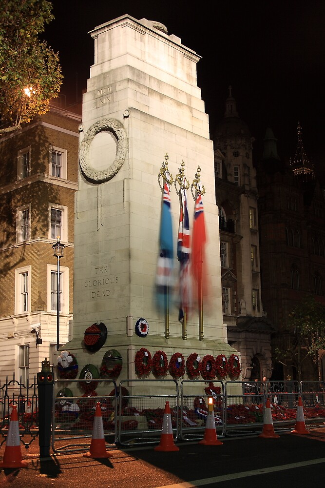 The Cenotaph at night by Dave Godden
