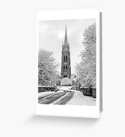 Spire of St. James Portrait Greeting Card