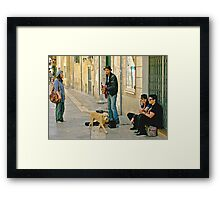 Singing for his Supper - Lecce Italy Framed Print