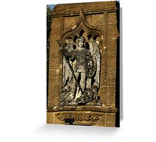 St  George And The Dragon Plaque Greeting Card
