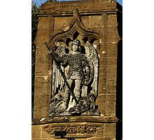 St  George And The Dragon Plaque Photographic Print