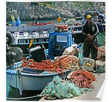 Fishermen - Puglia Italy Poster