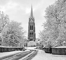 St James' church Louth In The Snow by Paul Thompson Photography