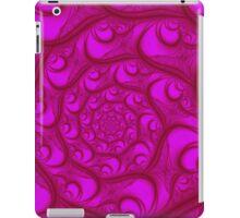 Fractal Web Red on Pink iPad Case/Skin