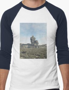 Ruined Tower on a Rocky Outcrop Men's Baseball ¾ T-Shirt