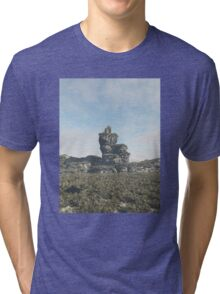 Ruined Tower on a Rocky Outcrop Tri-blend T-Shirt