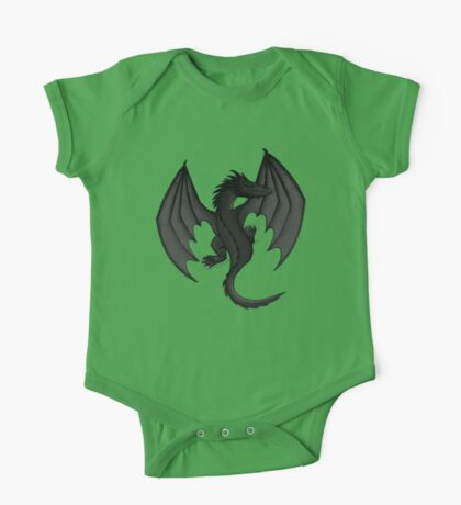 Charcoal Clinging Dragon One Piece - Short Sleeve