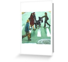 Figurative Cityscape - Daily Rush Greeting Card