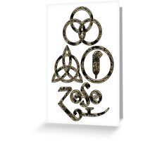 TRIQUETRA - the dirt L Greeting Card