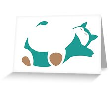 Snorlax Greeting Card