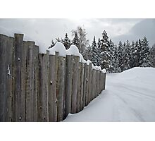 The Fence .. Photographic Print