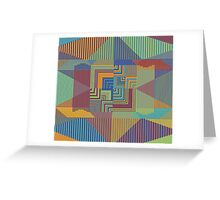 5-Colored Colors Greeting Card