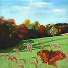 Rolling Hills - fall landscape oil painting by LindaAppleArt