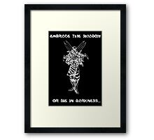Zed (white) Framed Print