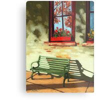 Empty Bench - oil painting Metal Print