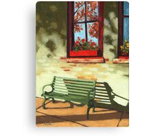 Empty Bench - oil painting Canvas Print