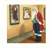 Museum Visitor - Santa Christmas Art Print