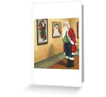 Museum Visitor - Santa Christmas Greeting Card