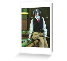 """Mr. Thomas Tudor"" - great dane portrait Greeting Card"