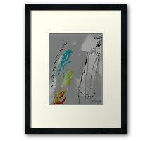 Falling posterized Framed Print
