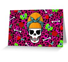 BEEHIVE SKULL AND CROSSBONES Greeting Card