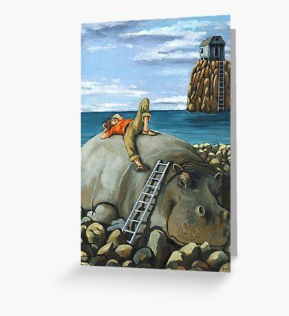 Lazy Days - surreal landscape Greeting Card