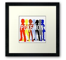 Pokemon Trainers Framed Print