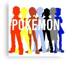 Pokemon Trainers Canvas Print
