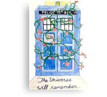 Rose TARDIS Canvas Print