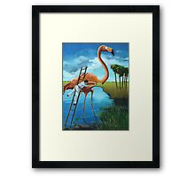 The Plein Air Wildlife Artist @ Work Framed Print