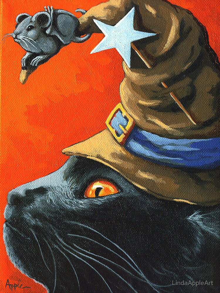 Witch Cat by LindaAppleArt