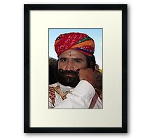 The Man and The Moustache Framed Print