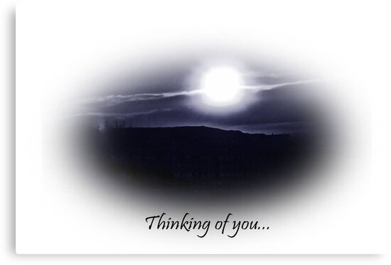 Thinking of you-blue sun greeting card by sarnia2