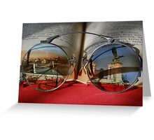 See The World Through Books Greeting Card