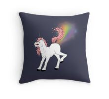 Classy Unicorns: Flatulent Throw Pillow