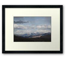 Yellowstone National Park - Mountain Range Framed Print