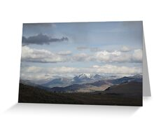Yellowstone National Park - Mountain Range Greeting Card
