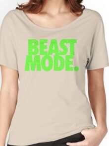 BEAST MODE. - Electric Green Women's Relaxed Fit T-Shirt