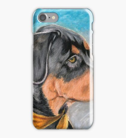 Sweet Rottweiler Puppy iPhone Case/Skin