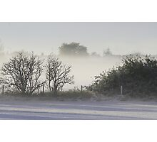 mist after snow fall Photographic Print