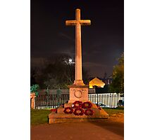 The Cross at Night: The Old Rugged Cross Photographic Print