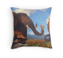 Veld Amour- Elephants in Love Throw Pillow