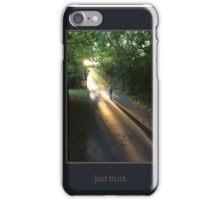 just trust. (tone on tone) iPhone Case/Skin