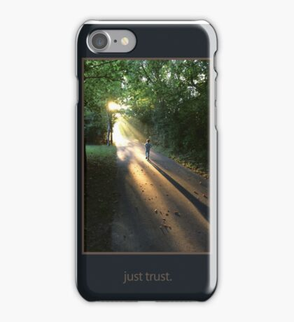 just trust. (tone on tone) iPhone Case/Skin