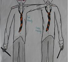 Fred and George Weasely by Mad-Hufflepuff