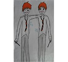 Fred and George Weasely Photographic Print