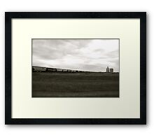 A Train across the prairies  Framed Print