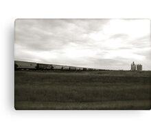 A Train across the prairies  Canvas Print