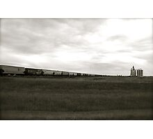 A Train across the prairies  Photographic Print
