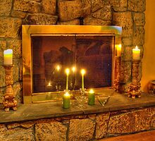 fireplace getting ready for thanksgiving dinner by henuly1